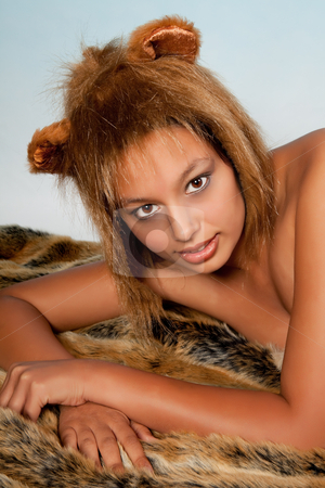 Lion Zodiac girl stock photo, Lion or Leo woman, this photo is part of a series of twelve Zodiac signs of astrology by Anneke