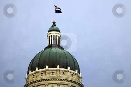 Dome of State Capitol stock photo, Dome of State Capitol in Indianapolis. by Henryk Sadura