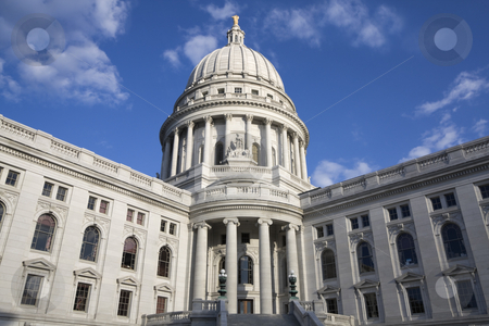 State Capitol of Wisconsin stock photo, State Capitol of Wisconsin in Madison. by Henryk Sadura