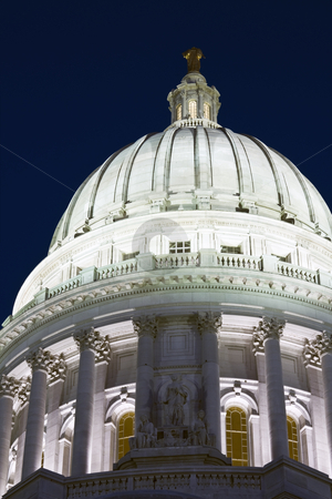 Dome of State Capitol stock photo, Dome of State Capitol of Wisconsin by Henryk Sadura