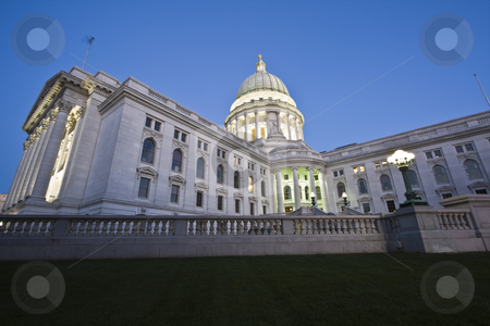 State Capitol of Wisconsin stock photo, State Capitol of Wisconsin in Madison by Henryk Sadura