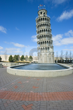 American Leaning Tower stock photo, Leaning Tower in Niles, Il. by Henryk Sadura