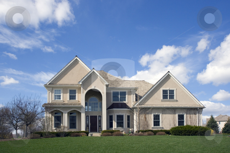 Typical SuburbanLuxury  Brick House stock photo, Luxury Suburban House by Henryk Sadura