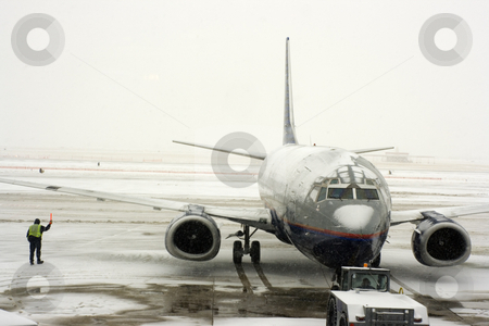 Snow Storm on the airport stock photo, Snow Storm on the airport by Henryk Sadura