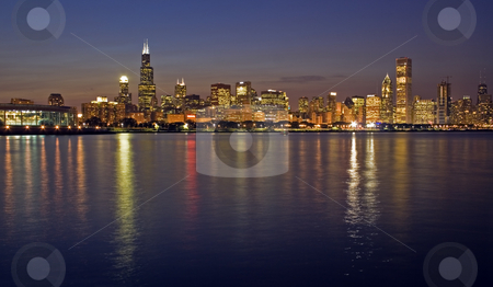 Office buildings in Chicago stock photo, Office buildings in Chicago, IL. by Henryk Sadura