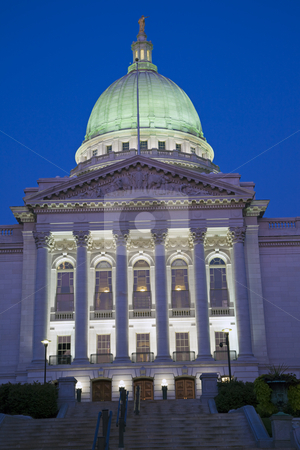 State Capitol of Wisconsin. stock photo, State Capitol of Wisconsin in Madison. by Henryk Sadura