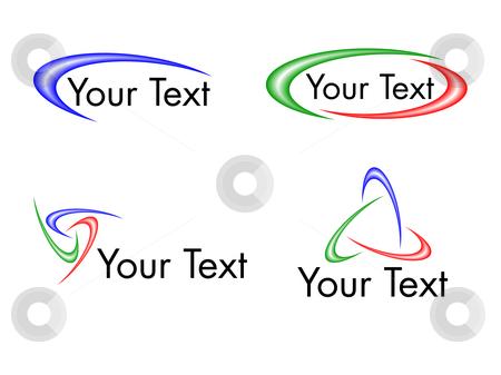 swoosh logo designs stock vector clipart four swoosh logo designs