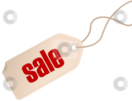 Price tag stock photo, Price tag isolated over white background by Richard Laschon