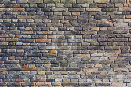 Brick wall stock photo, Brick wall of an ancient bricks of windmill by Peter Mikuska