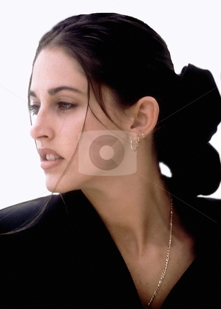 Close-up of an attractive young woman stock photo, Close-up of an attractive young woman by Anthony Dezenzio