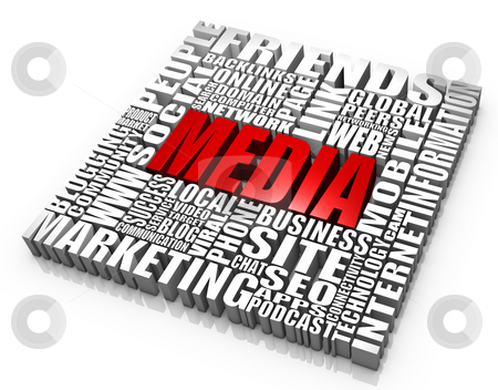 Media stock photo, Group of media related words. Part of a series of business concepts. by Victor Correia