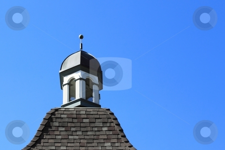 Bell Tower stock photo, Bell Tower with blue sky in the background by Henrik Lehnerer