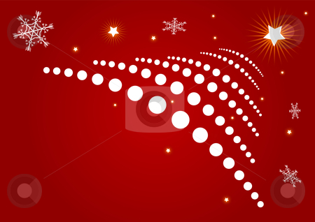 Christmas background stock vector clipart, Editable red vector abstract Christmas background by GPimages