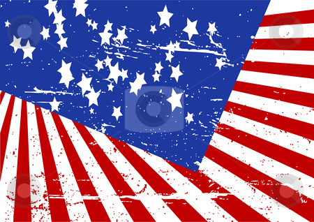 Stars and stripes stock vector clipart, Editable grunge vector illustration of stars and stripes by GPimages