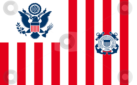 United States Navy Ensign stock photo, United States Navy Ensign or flag in official colors. by Martin Crowdy