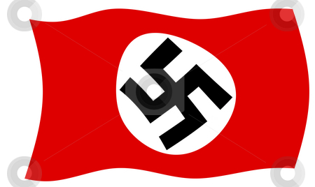 Swastika Flag stock photo, German Nazi Swastika flag in official colors. by Martin Crowdy