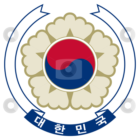 South Korea Coat of Arms stock photo, South Korea coat of arms, seal or national emblem, isolated on white background. by Martin Crowdy