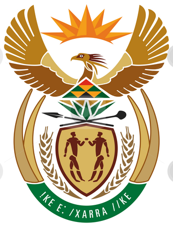 South Africa Coat or Arms stock photo, South Africa coat of arms, seal or national emblem, isolated on white background. by Martin Crowdy