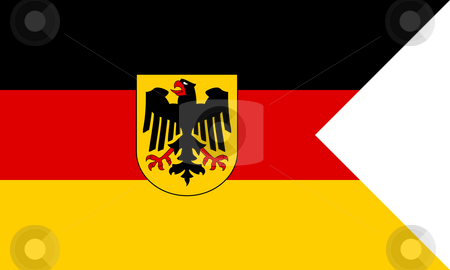 German naval flag stock photo, German naval flag or ensign in official colors. by Martin Crowdy