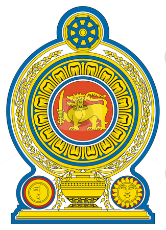 Sri Lanka coat of Arms stock photo, Sri Lanka coat of arms, seal or national emblem, isolated on white background. by Martin Crowdy