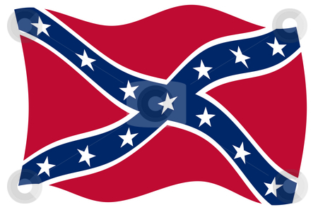 Confederate Flag stock photo, Confederate rebel flag of southern America in official colors. by Martin Crowdy