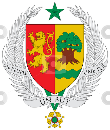 Senegal Coat of Arms stock photo, Senegal coat of arms, seal or national emblem, isolated on white background. by Martin Crowdy