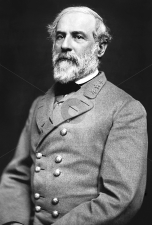General Robert E. Lee stock photo, Portrait of Gen. Robert E. Lee, officer of the Confederate Army. Dated 1863, photo was taken by Julian Vannerson. Sourced from Library of Congress Prints and Photographs division, public domain image by virtue of age. by Martin Crowdy
