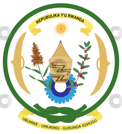 Rwanda Coat of Arms stock photo, Rwanda coat of arms, seal or national emblem, isolated on white background. by Martin Crowdy