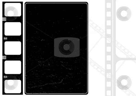 Grunge film frame stock vector clipart, Editable vector grunge film frame , nice element for your projects by Gordan Poropat