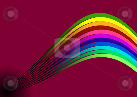 Rainbow stock vector clipart, Editable vector abstract style background with space for your text - Rainbow by Gordan Poropat