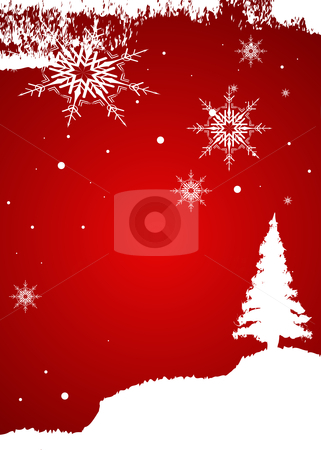 Christmas background stock vector clipart, Editable vector Christmas background with space for your text by Gordan Poropat
