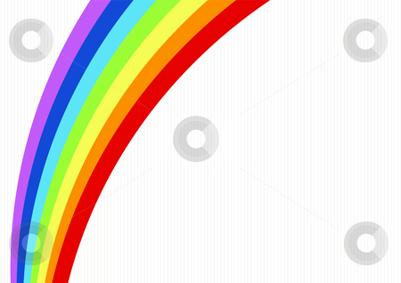 Rainbow stock vector clipart, Editable vector abstract style background with space for your text - Rainbow by GPimages