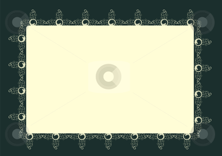 Decorative frame stock vector clipart, Editable vector decorative frame with space for your text or image. by GPimages