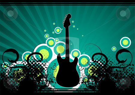 Music background stock vector clipart, Editable modern vector grunge music background with space for your text by Gordan Poropat