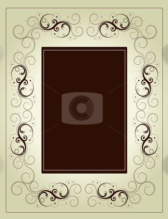 Editable vector decorative  frame stock vector clipart, Editable vector decorative  frame with space for your text or image. by Gordan Poropat