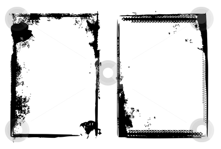 Grunge border stock vector clipart, Editable vector distressed dark border . Nice grunge element for your projects. More images like this in my portfolio by Gordan Poropat
