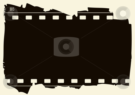 Grunge film frame stock vector clipart, Editable vector background - grunge film frame with space for your text or image by GPimages