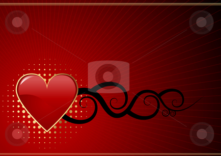 Valentines day background stock vector clipart, Editable abstract Valentines day background with space for your text. More images like this in my portfolio by Gordan Poropat