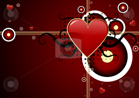 Valentines day background stock vector clipart, Editable abstract Valentines day background with space for your text. More images like this in my portfolio by GPimages