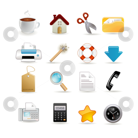 Icons stock vector clipart, Vector illustration of universal set of icons by Ika