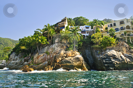Pacific coast of Mexico stock photo, Villas on Pacific coast of Mexico near Puerto Vallarta by Elena Elisseeva