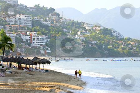 Puerto Vallarta beach, Mexico stock photo, Morning beach and ocean in Puerto Vallarta, Mexico by Elena Elisseeva