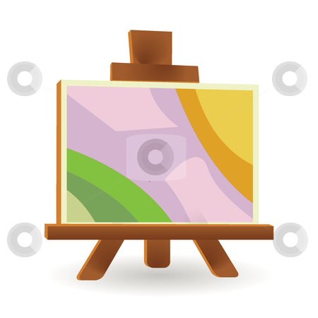 Easel board stock vector clipart, Easel board by Ika