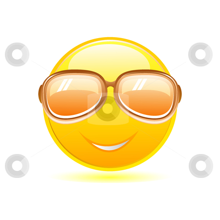 Smiley with sunglasses stock vector clipart, Smiley with sunglasses by Ika