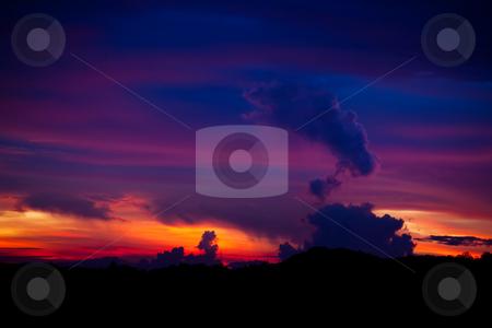 Costa Rica Sunset stock photo, Beautiful Costa Rica evening sunset near Monteverde by Scott Griessel