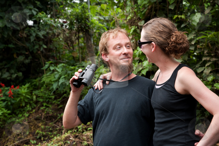 Central American Tourists stock photo, American and European Tourists Exploring Costa Rica by Scott Griessel