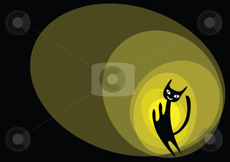 Cat cartoon stock vector clipart, Cat cartoons illustration background. by Mtkang 
