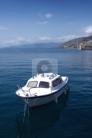 Boat stock photo, Small boat near the shore by Gordan Poropat