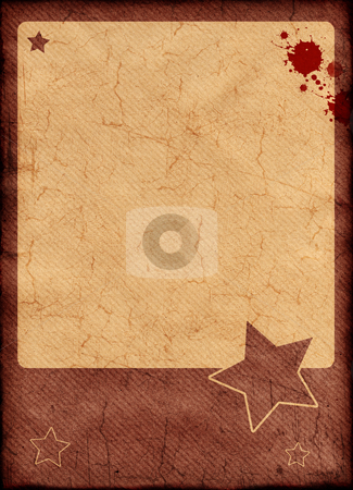 Grunge border and background stock photo, Detailed grunge frame on aged paper , high resolution background by Gordan Poropat