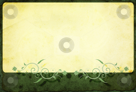 Grunge border stock photo, Computer designed highly detailed grunge border with space for your text or image. Great grunge layer for your projects. by Gordan Poropat